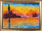 Закат в Венеции (по картине К. Моне)