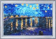 Звездная ночь над Роной (по мотивам В. Ван Гога)