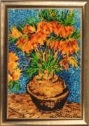 Цветы в медной вазе (по мотивам картины В. Ван Гога)
